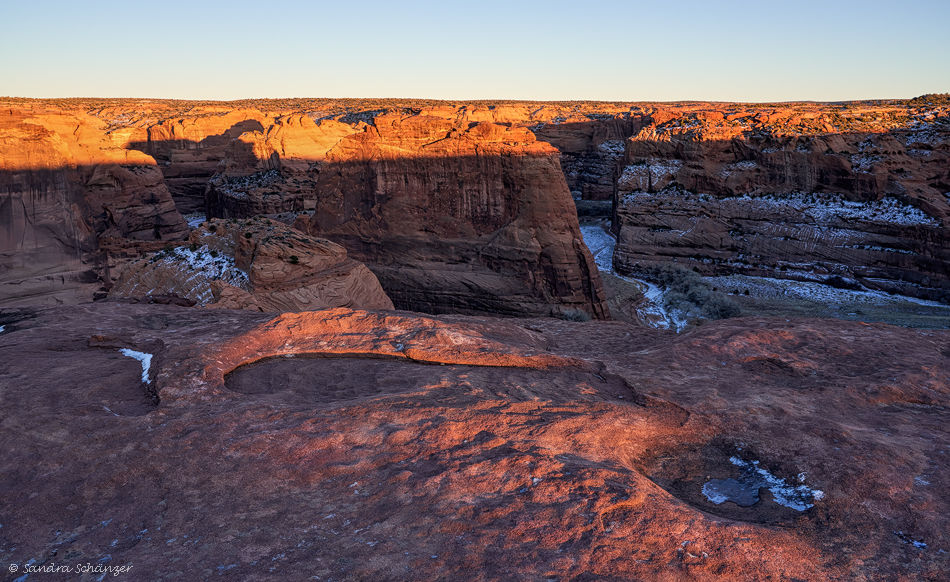 Canyon de Chelly Sonnenuntergang